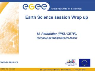 Earth Science session Wrap up