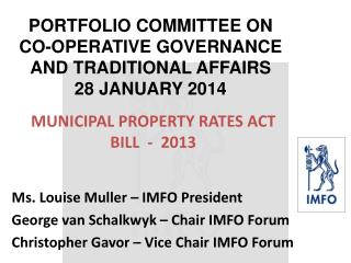 MUNICIPAL PROPERTY RATES ACT BILL  -  2013