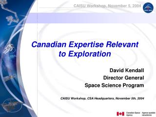 Canadian Expertise Relevant to Exploration
