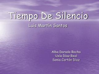Tiempo De Silencio Lu s Mart n Santos