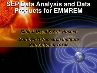 SEP Data Analysis and Data Products for EMMREM