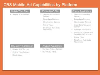 CBS Mobile Ad Capabilities by Platform