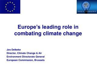 Europe's leading role in combating climate change