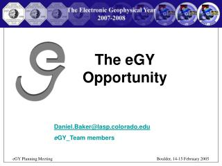 The eGY Opportunity