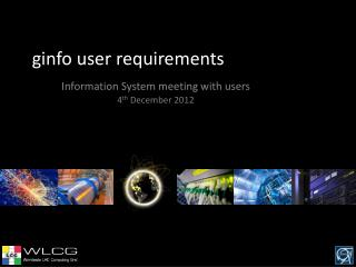 ginfo  user requirements