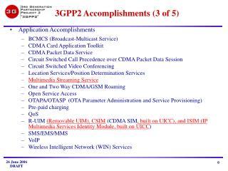 3 GPP2 Accomplishments (3 of 5)