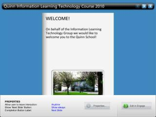 Quinn Information Learning Technology Course 2010