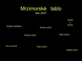 Mrzimorsk�   tablo l�to 2007