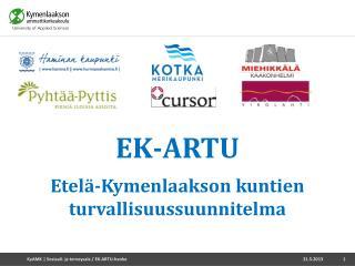 EK-ARTU Etelä-Kymenlaakson kuntien turvallisuussuunnitelma