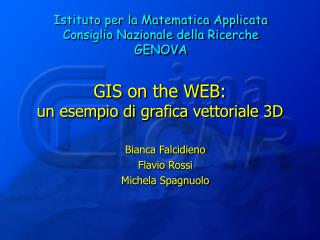 GIS on the WEB: un esempio di grafica vettoriale 3D