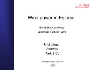 Wind power in Estonia