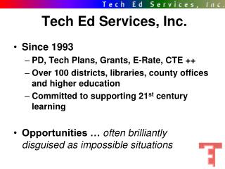 Tech Ed Services, Inc.