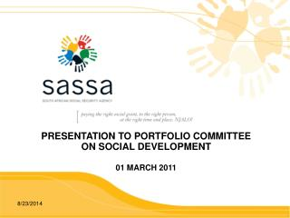 PRESENTATION TO PORTFOLIO COMMITTEE ON SOCIAL DEVELOPMENT  01 MARCH 2011