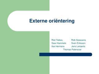 Externe oriëntering