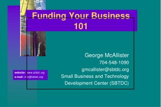 Funding Your Business 101