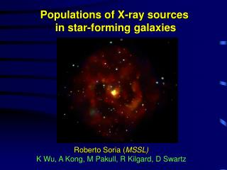 Populations of X-ray sources              in star-forming galaxies