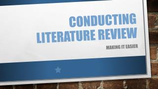 Conducting literature review