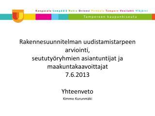Yhteenveto Kimmo Kurunmäki