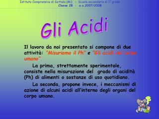 Gli Acidi