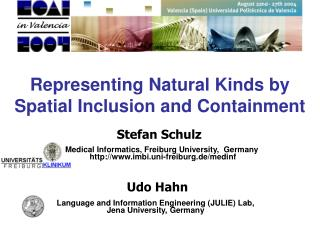 Representing Natural Kinds by Spatial Inclusion and Containment