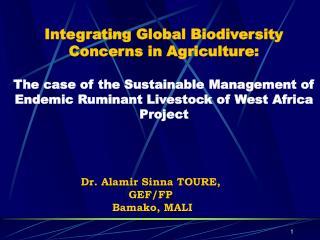 Dr. Alamir Sinna TOURE,  GEF/FP  Bamako, MALI