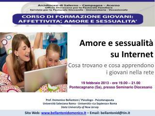 Amore e sessualità su Internet