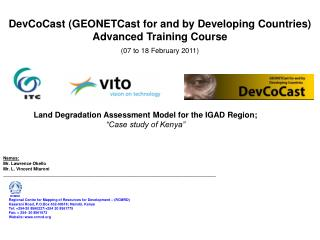 DevCoCast (GEONETCast for and by Developing Countries)  Advanced Training Course