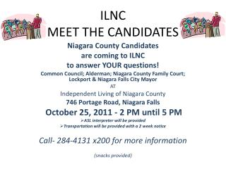 ILNC MEET THE CANDIDATES
