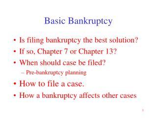Basic Bankruptcy