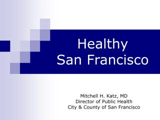 Healthy San Francisco