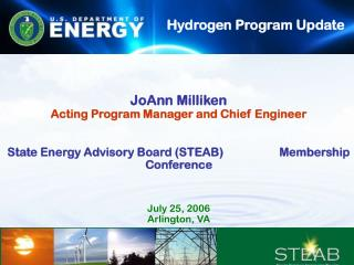 JoAnn Milliken Acting Program Manager and Chief Engineer