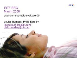 IRTF RRG March 2008