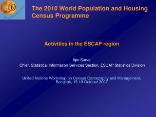 The 2010 World Population and Housing Census Programme