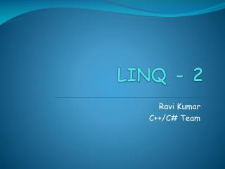 LINQ - 2