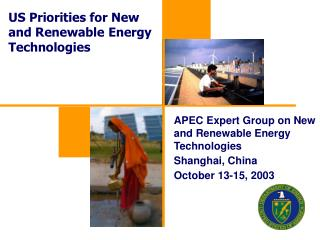 US Priorities for New and Renewable Energy Technologies