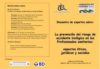 Encuentro de expertos sobre: La prevención del riesgo de  accidente biológico en los
