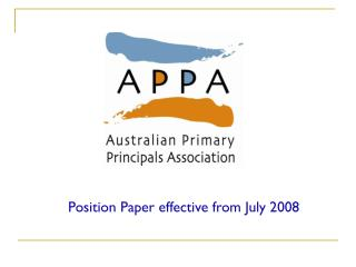 Position Paper effective from July 2008