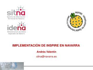 IMPLEMENTACI�N DE INSPIRE EN NAVARRA
