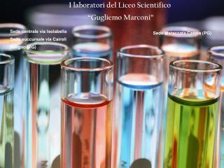 I laboratori del Liceo Scientifico  �Gugliemo Marconi�