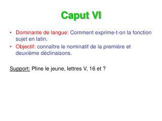 Caput VI