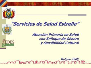 Servicios de Salud Estrella             Atenci n Primaria en Salud  con Enfoque de G nero  y Sensibilidad Cultural
