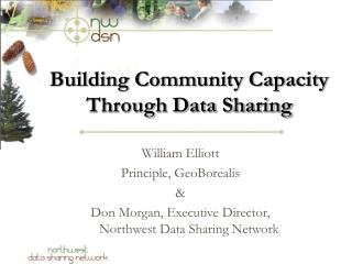 Building Community Capacity Through Data Sharing