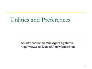 Utilities and Preferences