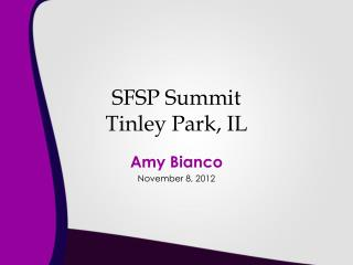 SFSP Summit Tinley Park, IL