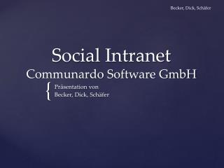 Social  Intranet Communardo  Software GmbH