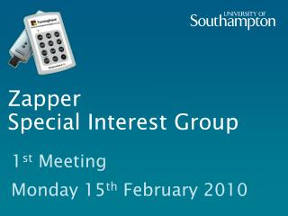 Zapper  Special Interest Group
