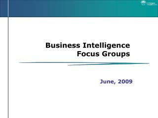 Business Intelligence Focus Groups
