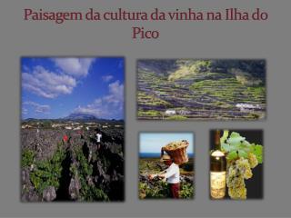 Paisagem da cultura da vinha na Ilha do Pico