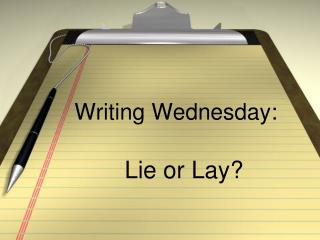 Writing Wednesday: