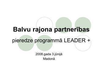 Balvu rajona partnerības